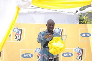 Mr. Eli Hini, General manager for mobile money financial services at MTN Ghana