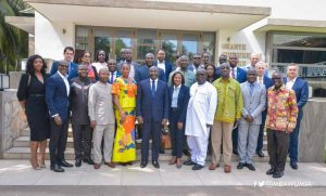 A group photograph with H.E The Vice President Dr. Bawumia and participants at the event