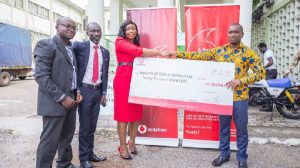 Vodafone Ghana donated packages including GHC20,000 for the organisation of this year's Farmers' Day